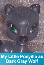 My Little Ponyville as Dark Gray Wolf Custom My Little Pony Ponyville Figure by TorresDesigns