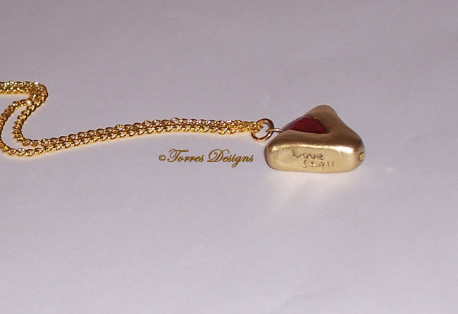Goron Ruby Pendant Necklace Legend of Zelda Ocarina of Time OOAK One of a Kind Handmade Custom by TorresDesigns Torres Designs